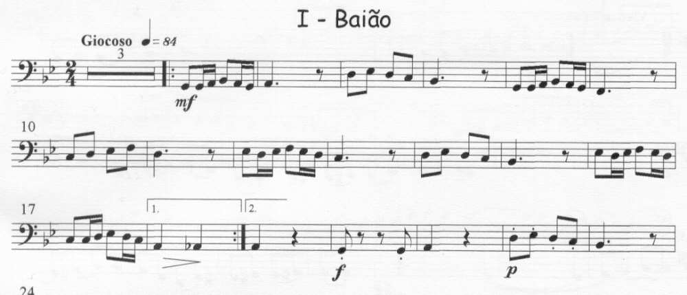 Bass part for Baião
